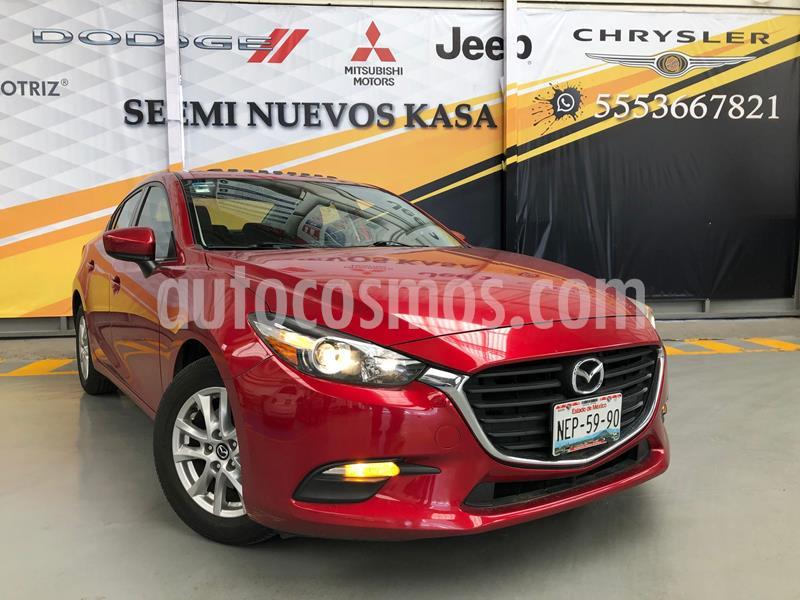 Mazda 3 Sedan i Touring Aut usado (2017) color Rojo precio $250,000