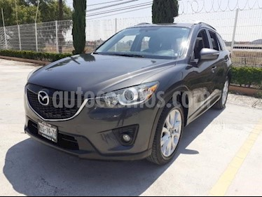 Mazda CX-5 5P S GRAND TOURING 2.5L TA PIEL QC F. NIEBLA GPS  usado (2015) color Gris precio $240,000