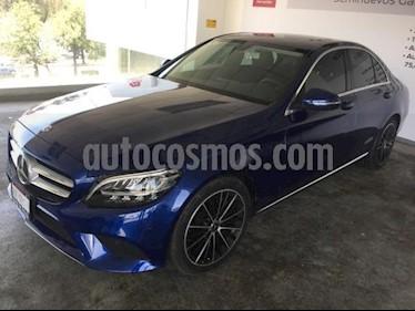 Foto venta Auto usado Mercedes Benz Clase C 4p C 200 Sport L4/1.5/T Aut (2019) color Azul precio $610,000