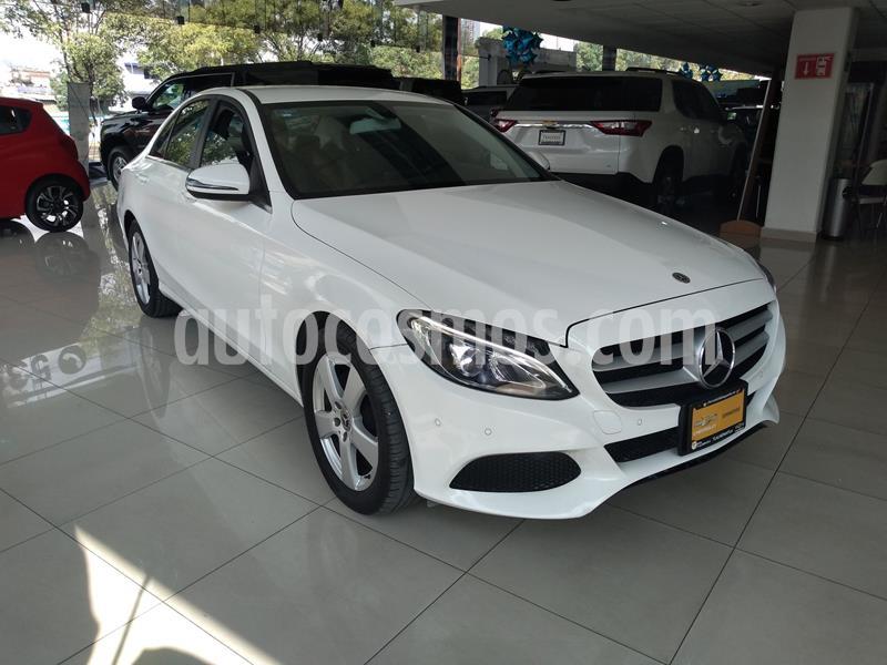 Mercedes Benz Clase C 180 Aut usado (2018) color Blanco precio $348,000