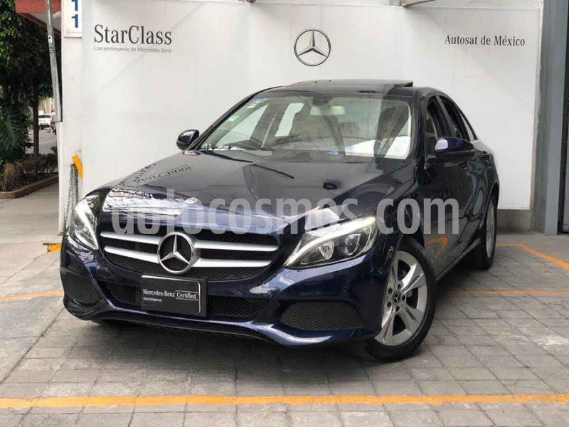 Mercedes Benz Clase C 200 CGI Exclusive Aut usado (2018) color Azul precio $440,000