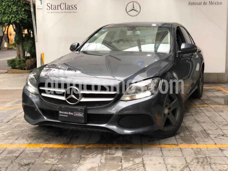 Mercedes Benz Clase C 180 Aut usado (2016) color Gris precio $330,000
