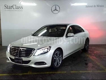 Mercedes Benz Clase S 500 CGI L Bi-Turbo (435Hp) usado (2014) color Blanco precio $1,149,000