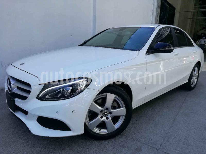 Mercedes Clase C 180 Aut usado (2018) color Blanco precio $395,000