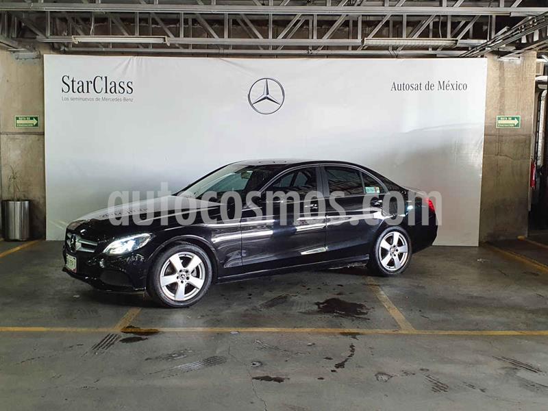 Mercedes Clase C 180 Aut usado (2018) color Negro precio $409,000