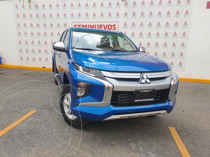 Foto Mitsubishi L200 GLX 4x4   usado (2021) color Azul Metalico precio $498,000