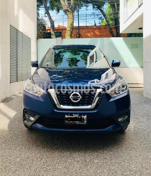 Nissan Kicks Exclusive Aut usado (2018) color Azul Cobalto precio $260,000