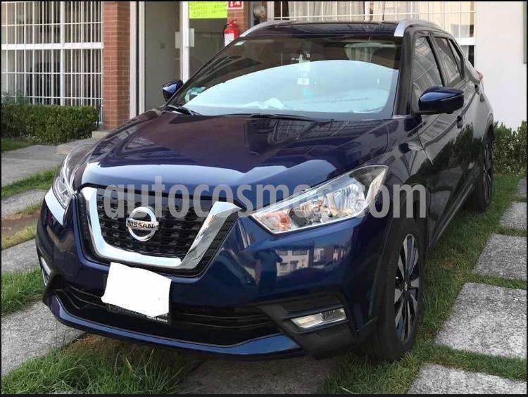 Nissan Kicks Exclusive Aut usado (2018) color Azul Cobalto precio $270,000