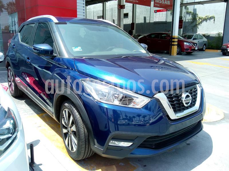 Nissan Kicks Exclusive Aut usado (2020) color Azul precio $375,000