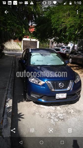 Nissan Kicks Exclusive Aut usado (2017) color Azul Cobalto precio $240,000