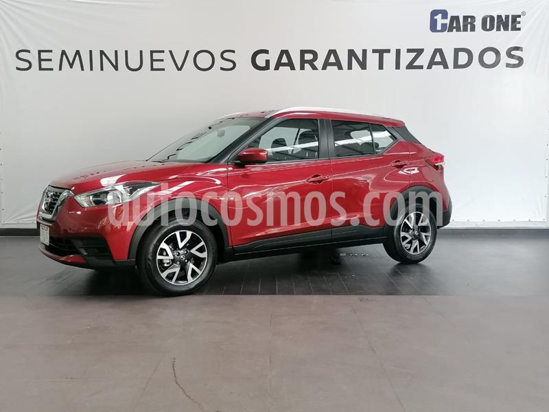 Nissan Kicks Sense usado (2020) color Rojo Metalizado precio $289,000