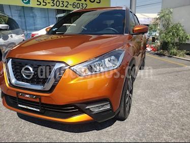 Nissan Kicks Exclusive Aut usado (2018) color Naranja precio $290,000