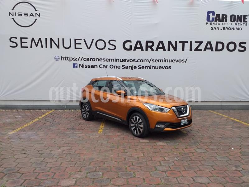 Nissan Kicks Advance Aut usado (2018) color Naranja Metalico precio $244,900