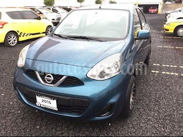 Foto venta Auto Seminuevo Nissan March 1.6 SENSE MT 5P (2015) color Turquesa precio $129,000