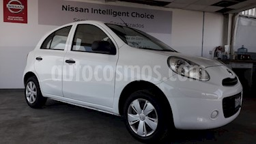 Foto venta Auto usado Nissan March 5p Active L4/1.6 Man A/A (2017) color Blanco precio $125,000