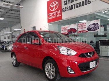 Foto venta Auto usado Nissan March 5p Advance L4/1.6 Aut Navi (2015) color Rojo precio $129,000