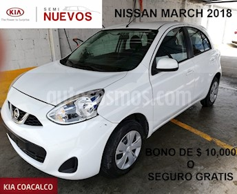 Foto venta Auto usado Nissan March 5p Sense L4/1.6 Aut (2018) color Blanco precio $167,000