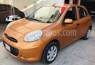 Foto venta Auto usado Nissan March 5p Sense L4/1.6 Man (2012) color Naranja precio $93,000