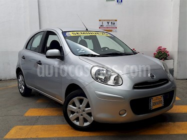 Foto venta Auto usado Nissan March Advance Aut (2012) color Plata precio $123,900