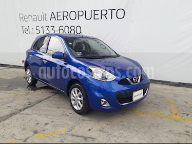 Foto venta Auto usado Nissan March Advance Aut (2017) color Azul Electrico precio $165,000