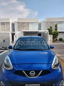 Nissan March Advance usado (2016) color Azul Electrico precio $125,000