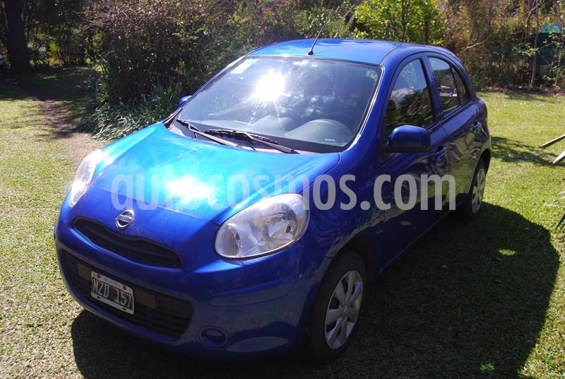 Nissan March Visia usado (2013) color Azul precio $490.000