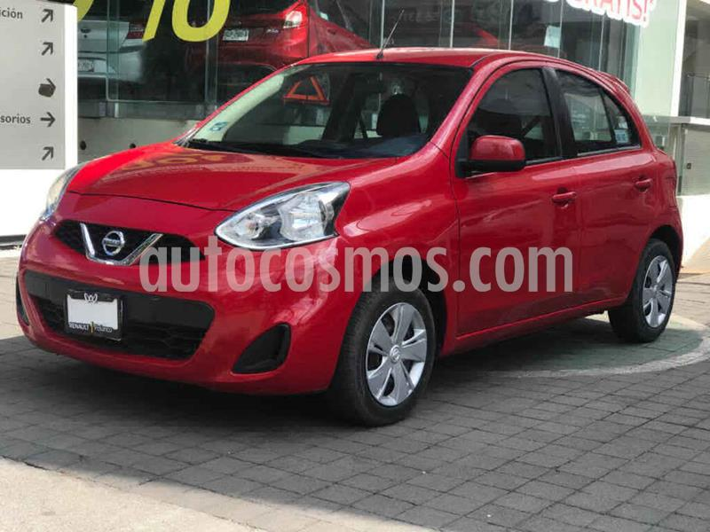 Nissan March Sense usado (2018) color Rojo precio $155,000