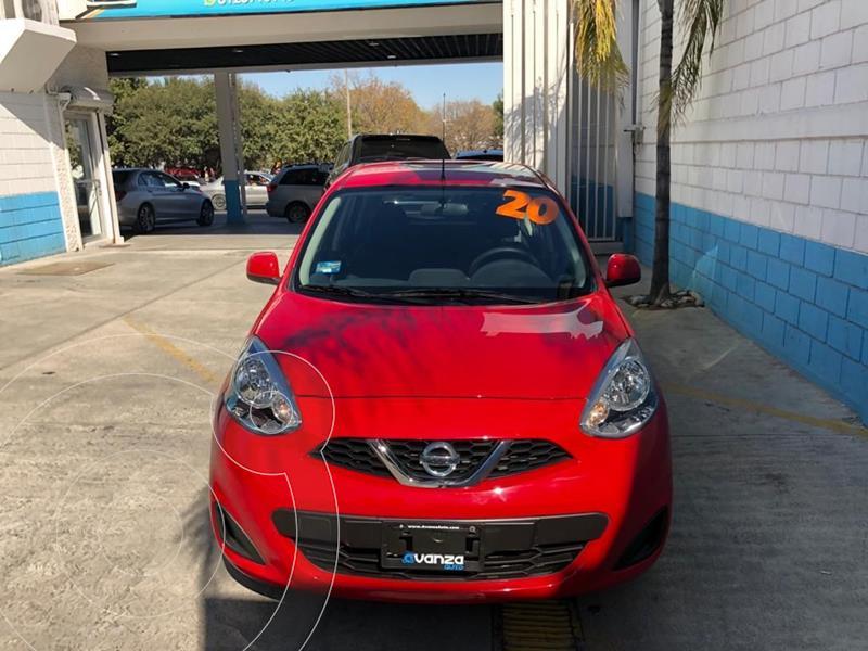 Nissan March Sense Aut usado (2020) color Rojo precio $202,000