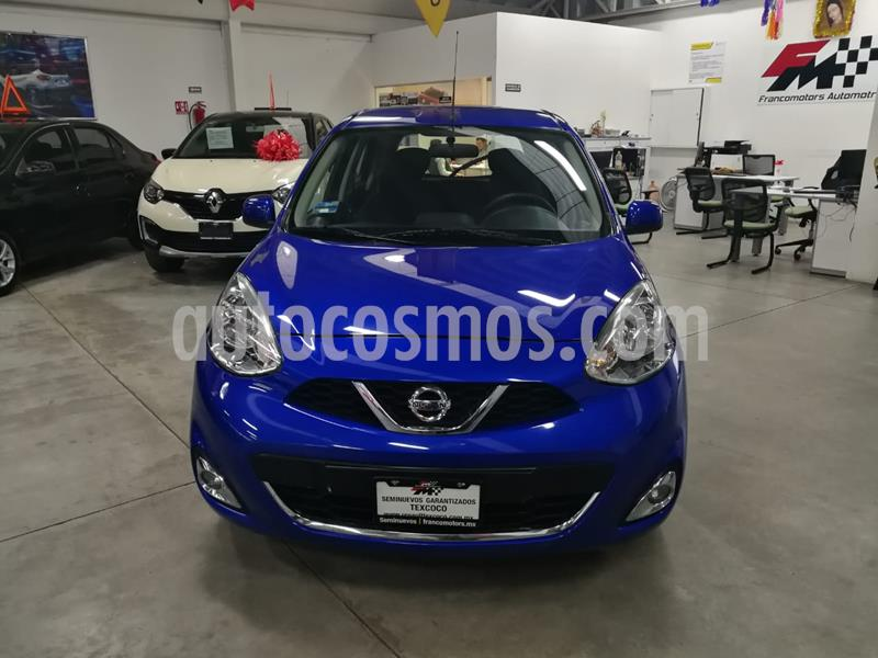Nissan March Advance NAVI Aut usado (2018) color Azul precio $185,000