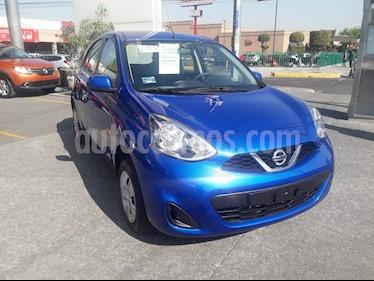 Nissan March Sense usado (2018) color Azul precio $158,000