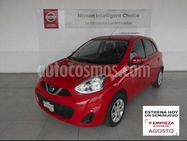Nissan March 5P ADVANCE L4/1.6 MAN usado (2019) color Rojo precio $169,000