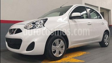 Nissan March 5P HB SENSE TM5 A/AC. BLUETOOTH CD R-14 usado (2018) color Blanco precio $139,000
