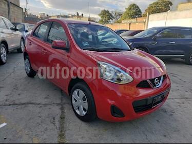 Nissan March Sense  Aut usado (2018) color Rojo precio $167,000