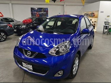 Nissan March Advance NAVI Aut usado (2017) color Azul precio $185,000