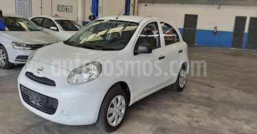 Nissan March 5p Active L4/1.6 Man A/A usado (2019) color Blanco precio $129,900