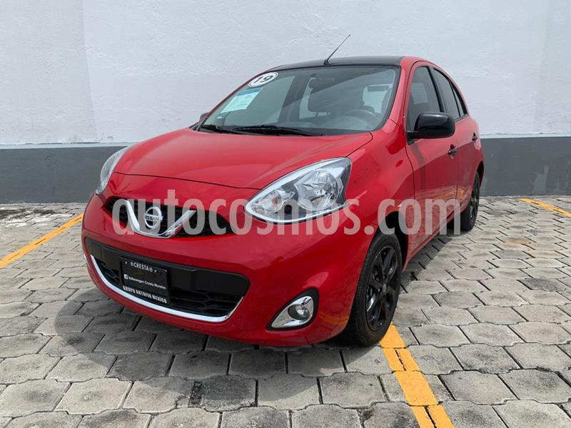 Nissan March Exclusive Aut usado (2019) color Rojo precio $199,900