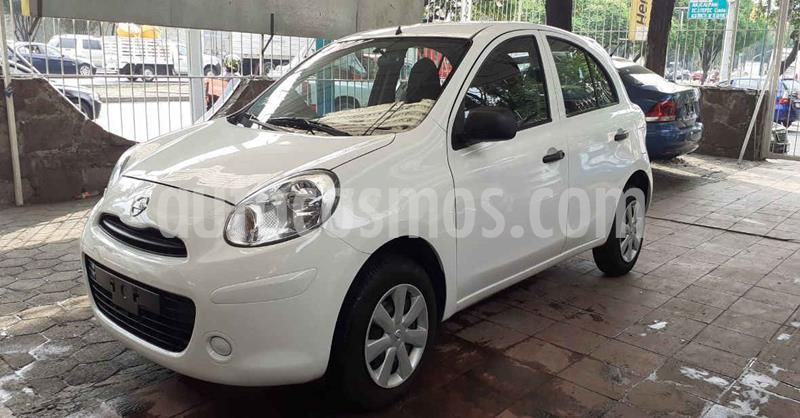 foto Nissan March 5p Active L4/1.6 Man A/A usado (2019) color Blanco precio $124,900