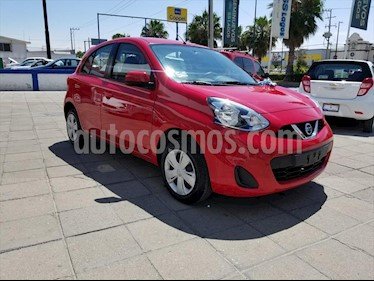 Nissan March Advance Aut usado (2018) color Rojo precio $155,000