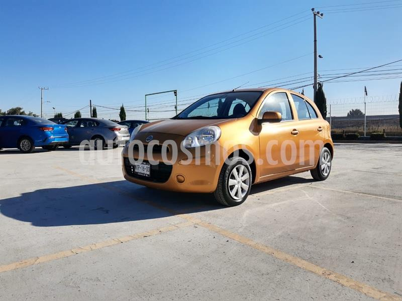Nissan March Sense  Aut usado (2013) color Naranja precio $102,000