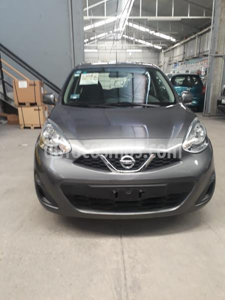 Nissan March Sense  Aut usado (2018) color Gris Oxford precio $150,000
