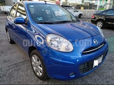 Nissan March 5P HB ADVANCE AT A/AC. DA BA CD RA-15 usado (2013) color Azul precio $120,000