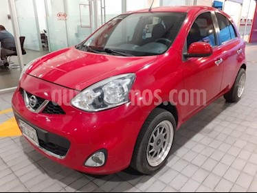 Nissan March 5p Advance L4/1.6 Man usado (2015) color Rojo precio $135,000