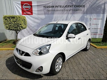 Nissan March Advance Aut usado (2018) color Blanco precio $175,000