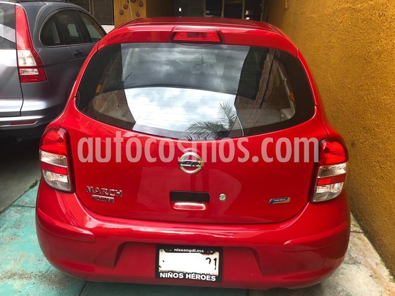 Nissan March Active usado (2015) color Rojo precio $110,000