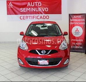 Nissan March Advance usado (2018) color Rojo precio $140,000