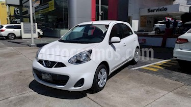 Nissan March 5p Sense L4/1.6 Man usado (2015) color Blanco precio $125,000
