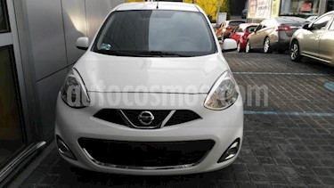 Nissan March 5P ADVANCE L4/1.6 MAN usado (2018) color Blanco precio $175,000