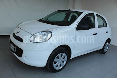 Nissan March 5p Active L4/1.6 Man usado (2015) color Blanco precio $119,000