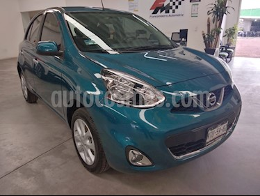 Nissan March Advance usado (2020) color Turquesa precio $199,000