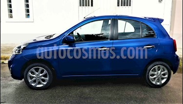 Nissan March Advance usado (2018) color Azul Electrico precio $160,000